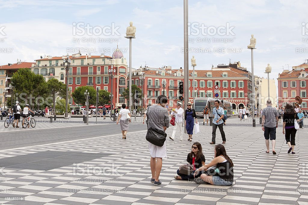 Place Massena, Nice royalty-free stock photo