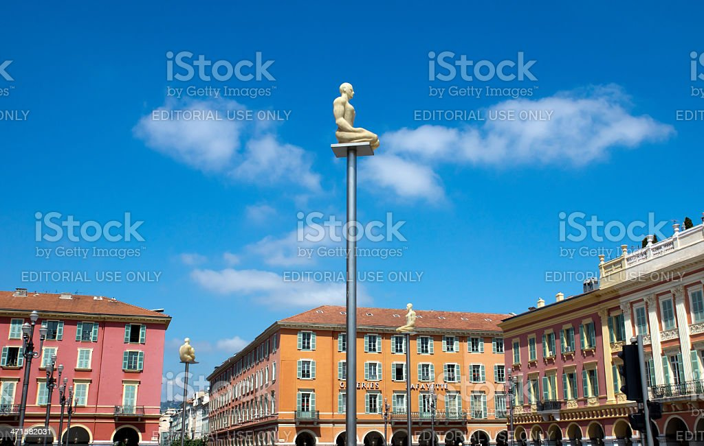 Place Massena with new lamps royalty-free stock photo
