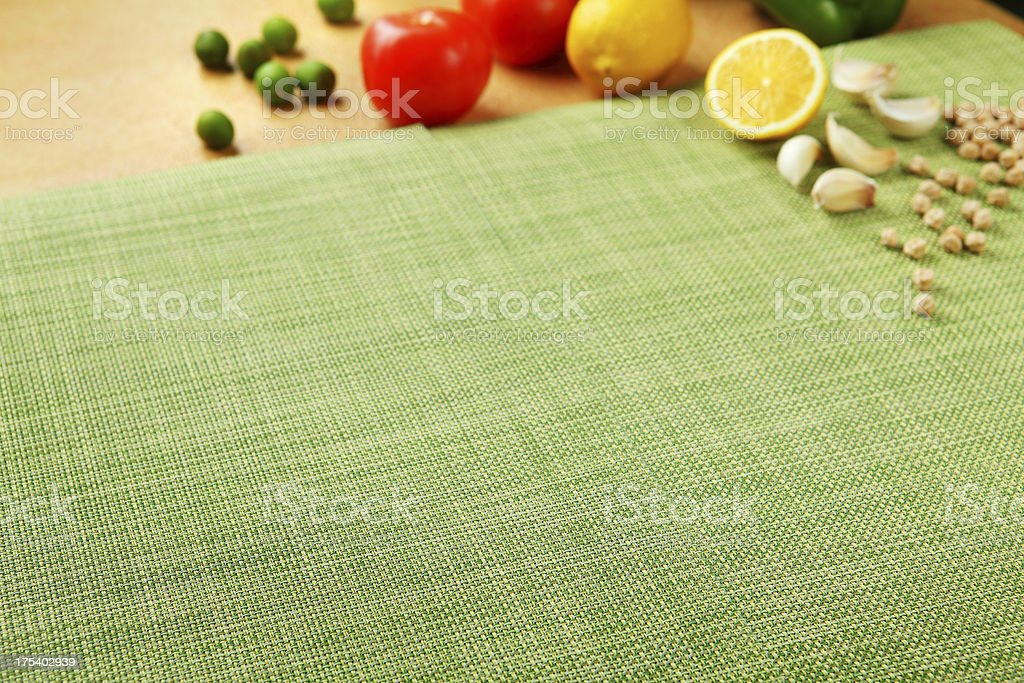 Place Mat Food Background royalty-free stock photo