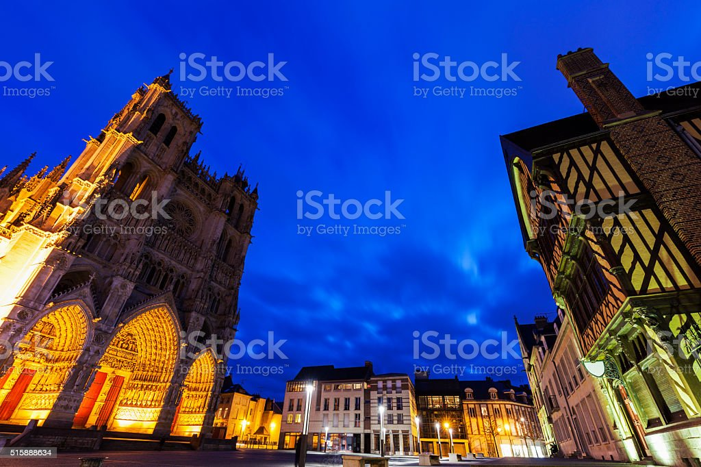 Place Notre-Dame in Amiens stock photo