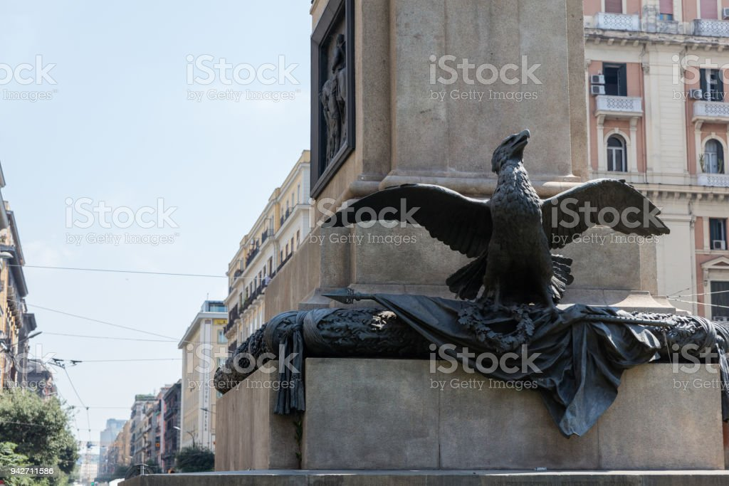 Place of Borsa, Naples stock photo