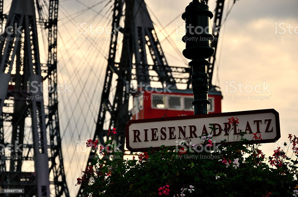 place of ferris wheel in vienna stock photo