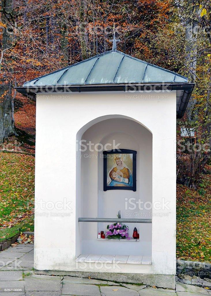 Place of pilgrimage - chapel on Malenisko stock photo