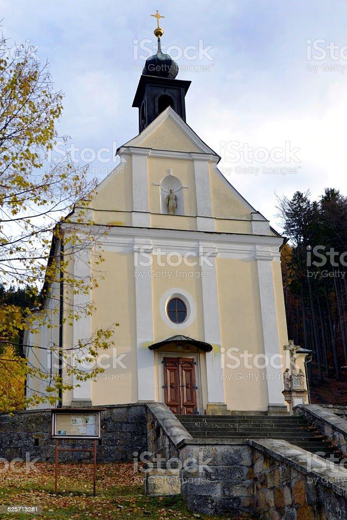 Place of pilgrimage - church on Malenisko stock photo