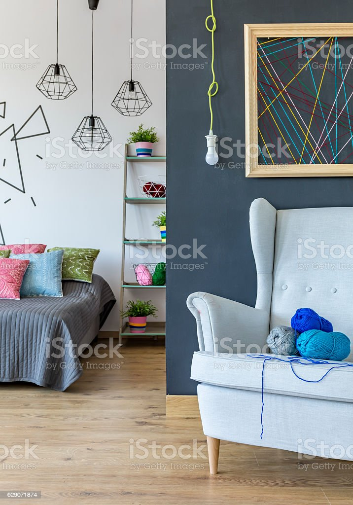 Place of realising your hobby stock photo