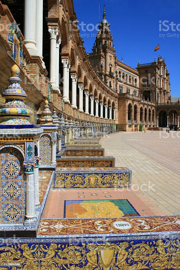 place of Spain in Séville royalty-free stock photo