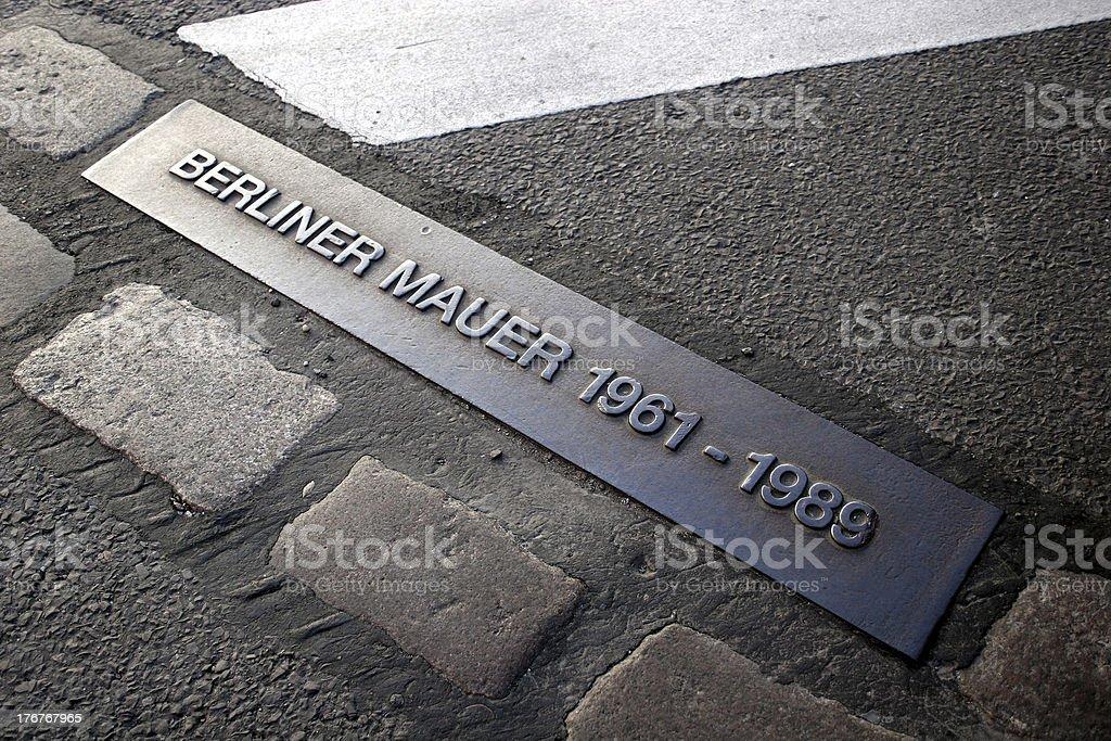 Ort der Berliner Mauer bis 1989 – Foto