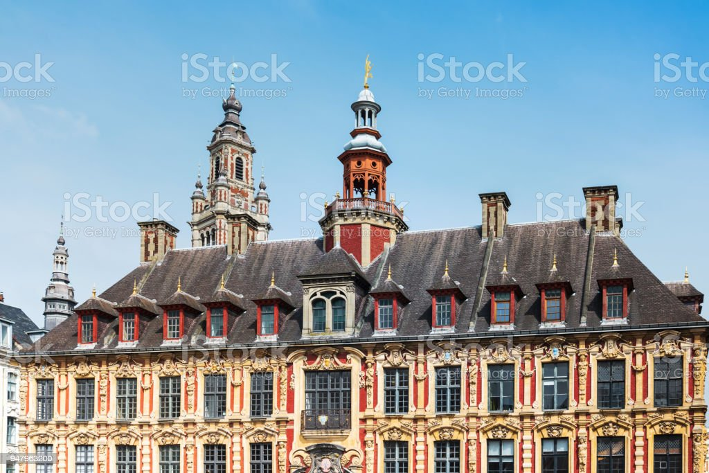 Place of the General-de-Gaulle in Lille, France stock photo