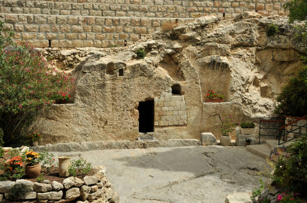 place of the resurrection of jesus christ place of the resurrection of jesus christ in jerusalem Israel historical palestine stock pictures, royalty-free photos & images
