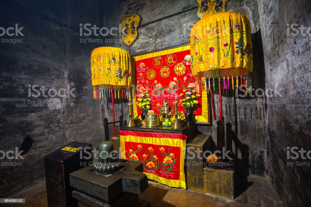 Place of worship in Cham Po Nagar Towers in Vietnam stock photo