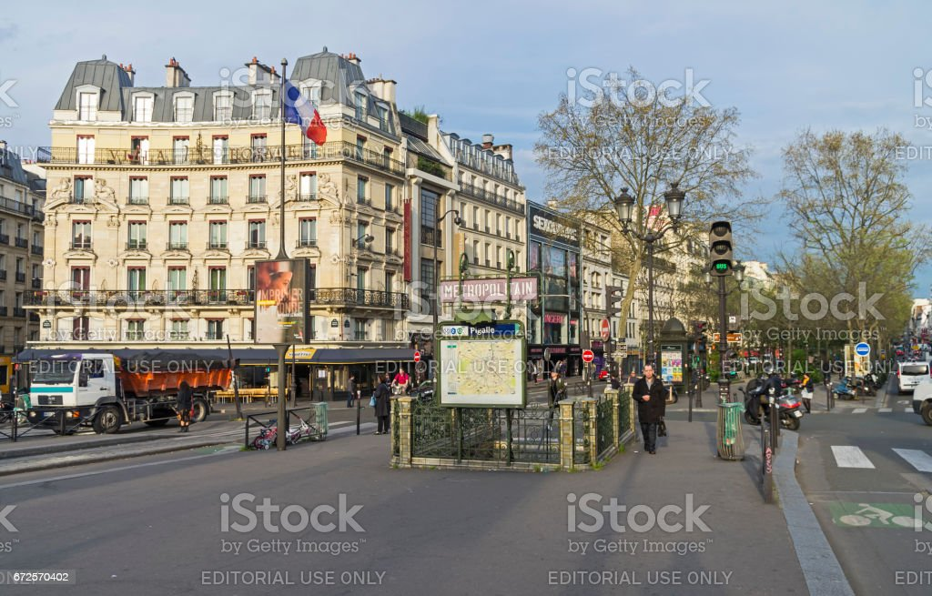 Place Pigalle in the morning. stock photo