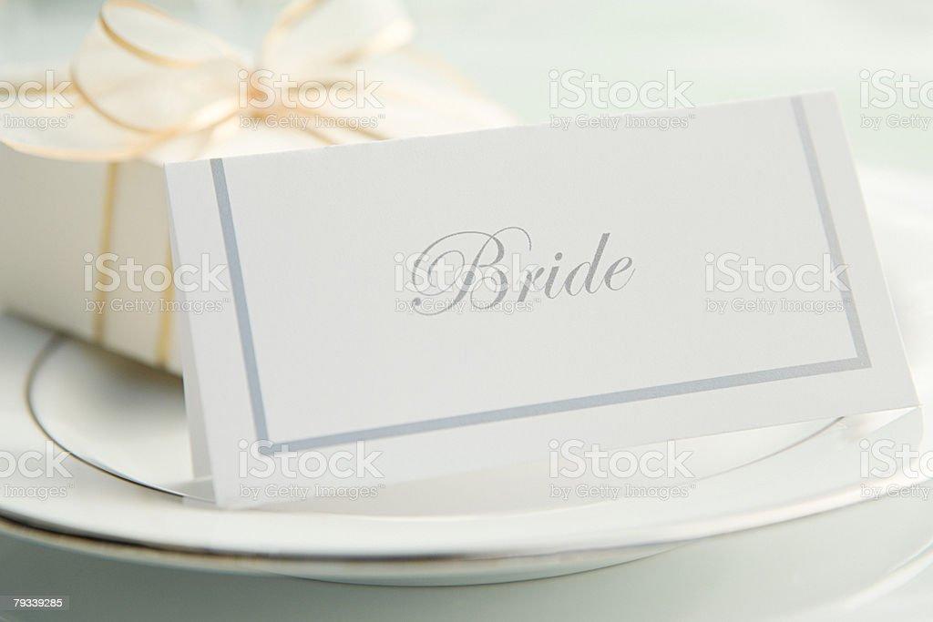 Gedeck bei einer Hochzeit Lizenzfreies stock-foto