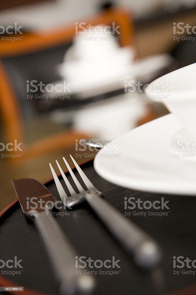 Place Setting Laid Out for Dinner royalty-free stock photo