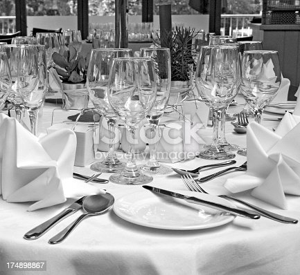 place settings for event