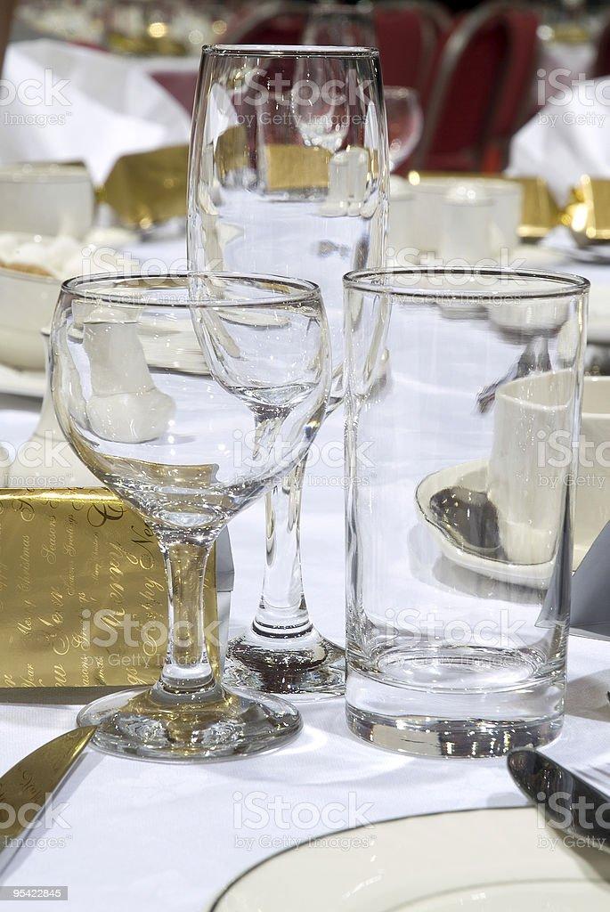 Gedeck für Firmen-Weihnachts-Abendessen Lizenzfreies stock-foto
