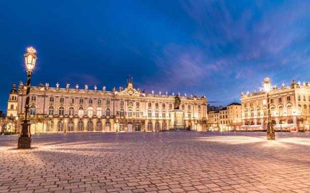 Place Stanislas Nancy France in der Nacht – Foto