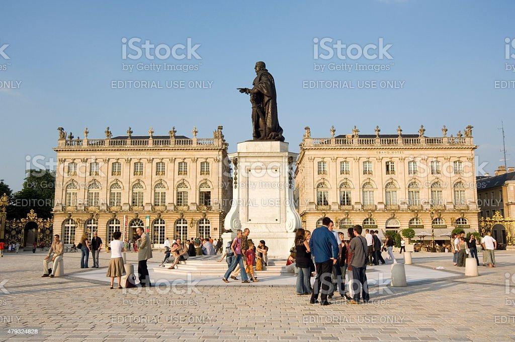 Place Stanislas, Nancy, France stock photo
