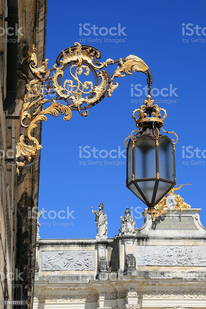 Place Stanislas (detail) royalty-free stock photo