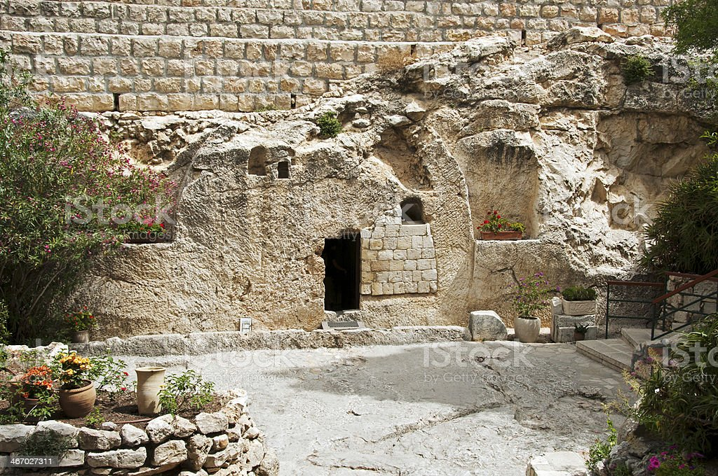 place  the resurrection of Jesus Christ stock photo