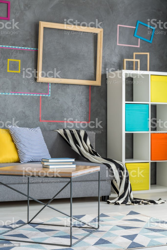Place to relax in living room stock photo