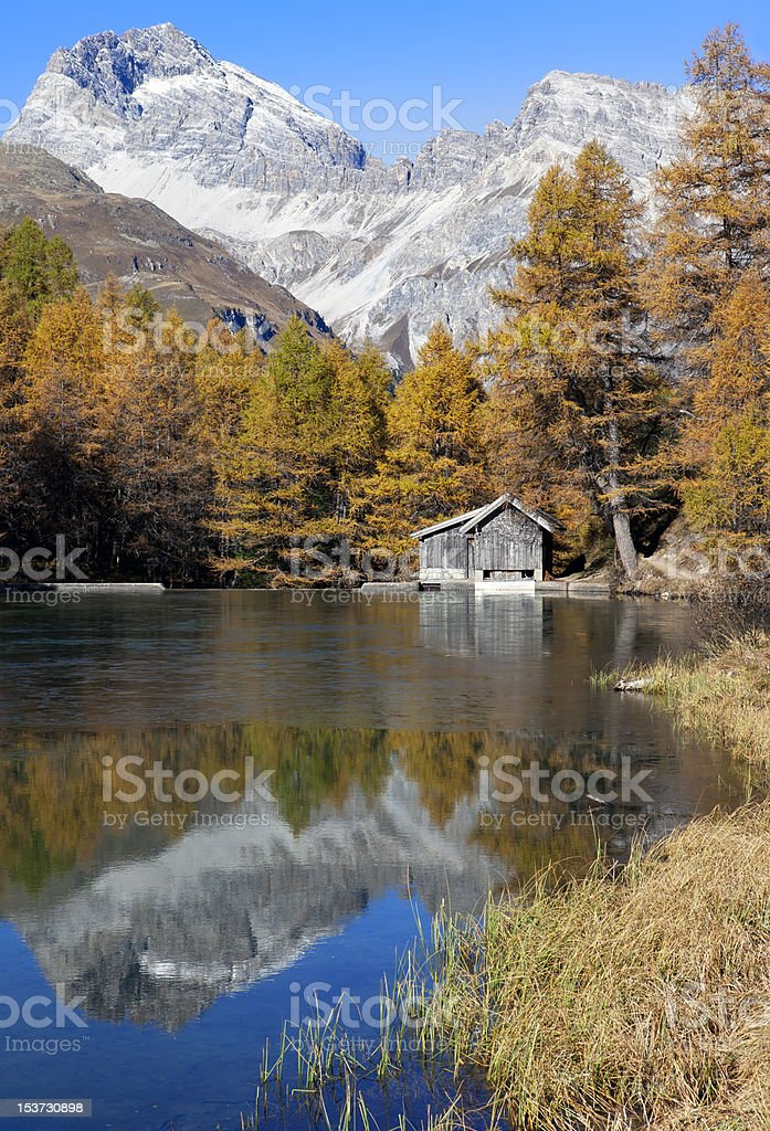 Place to Relax - Lake Palpuogna royalty-free stock photo
