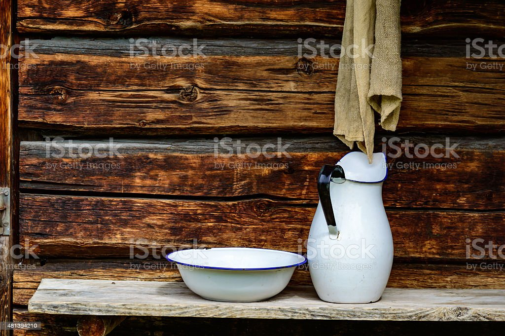 Place to wash up stock photo