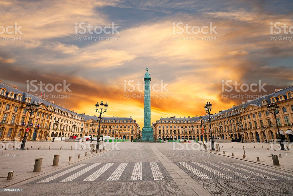 Place Vendome , Paris stock photo