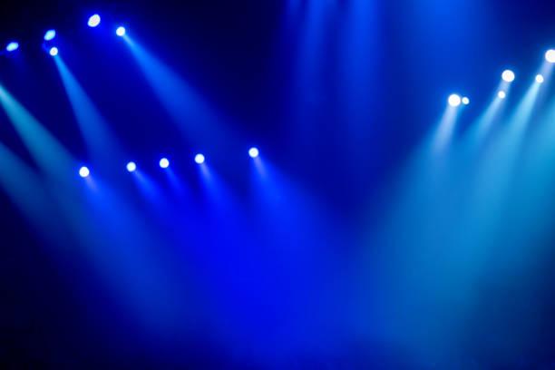 Place was illuminated by many spotlights stock photo