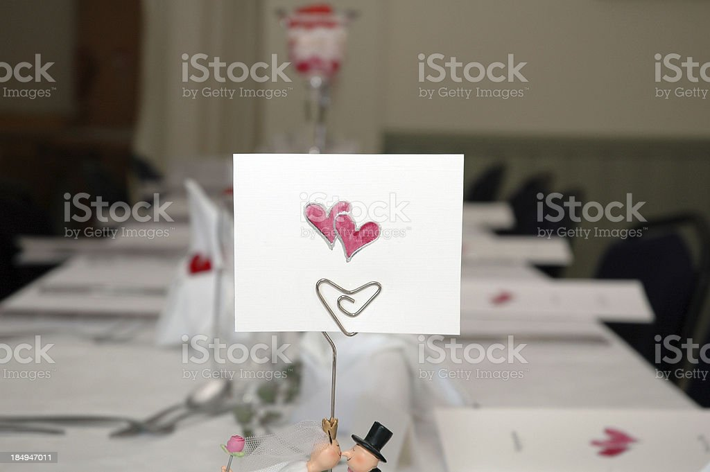 placecard stock photo