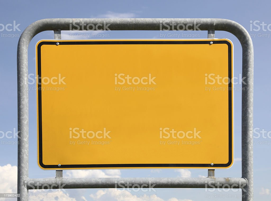 place-name sign with copy space royalty-free stock photo
