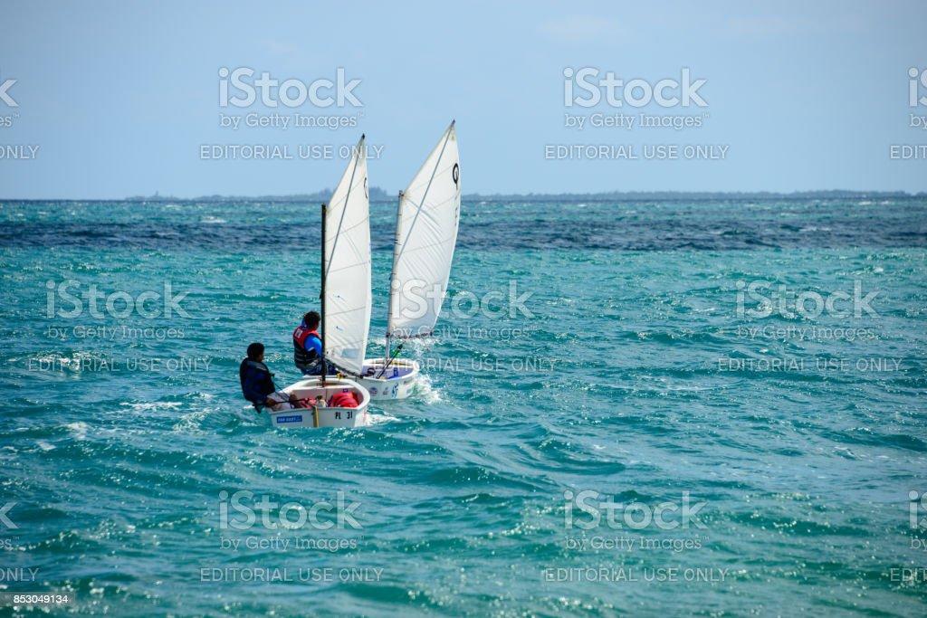 Placencia Sailing stock photo