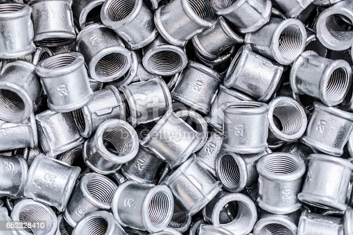 istock Placer connecting fittings for metal pipes 652328410