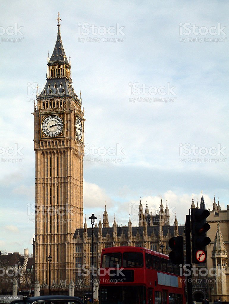 Places - London, England, Big Ben, Parliment Buildings royalty-free stock photo