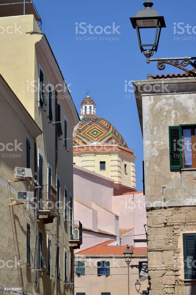 places of Alghero, Sardinia, Italy stock photo