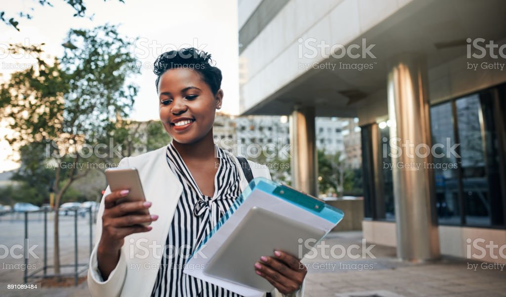Places to go, business to be handled stock photo
