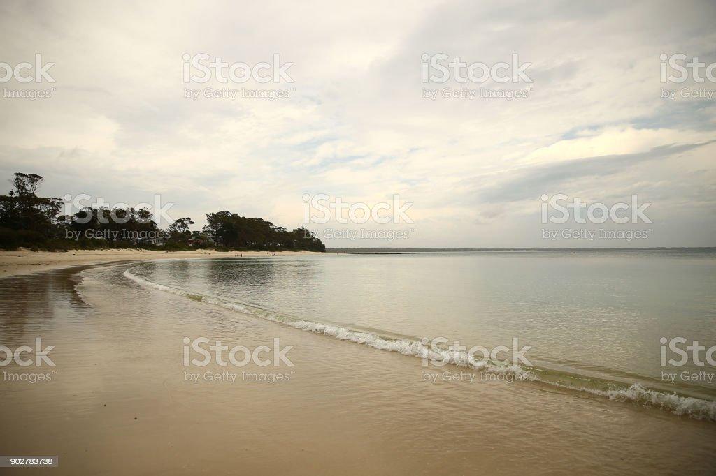 Places To Visit - Sailors Beach, Huskisson, NSW, Australia stock photo