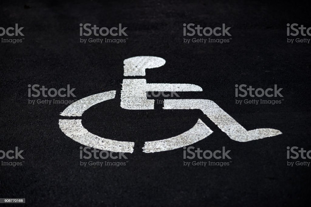 places wheelchair disabled parking stock photo
