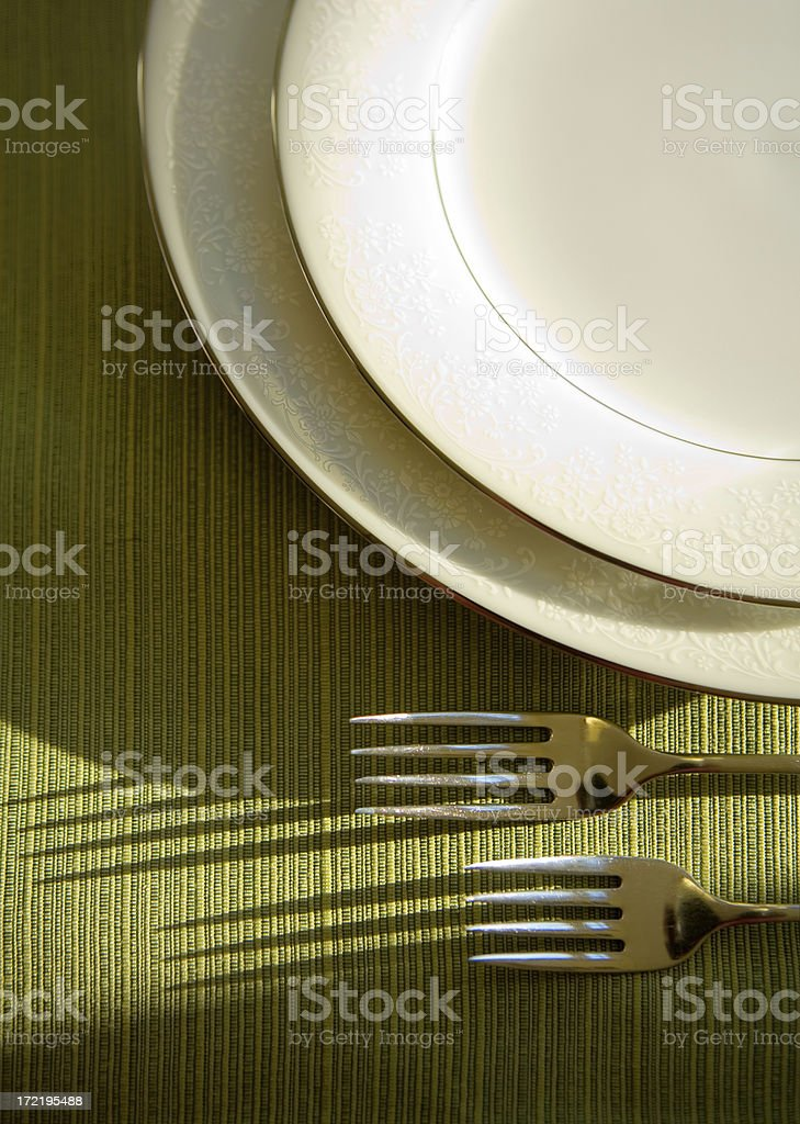 placesetting royalty-free stock photo