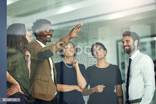 istock Placing all their ideas into perspective 603850624