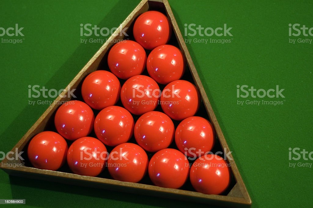 Placing Snooker Balls Series royalty-free stock photo