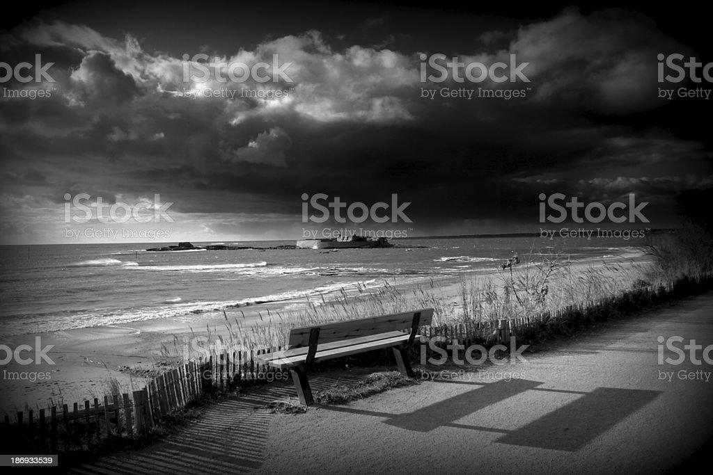 plage de fort bloqué royalty-free stock photo