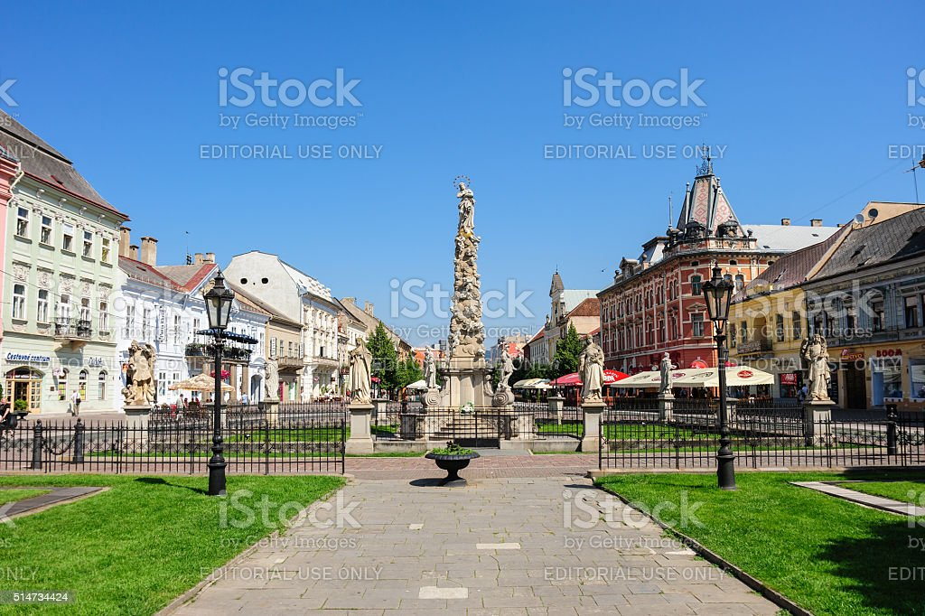 Plague Column monument and statues stock photo