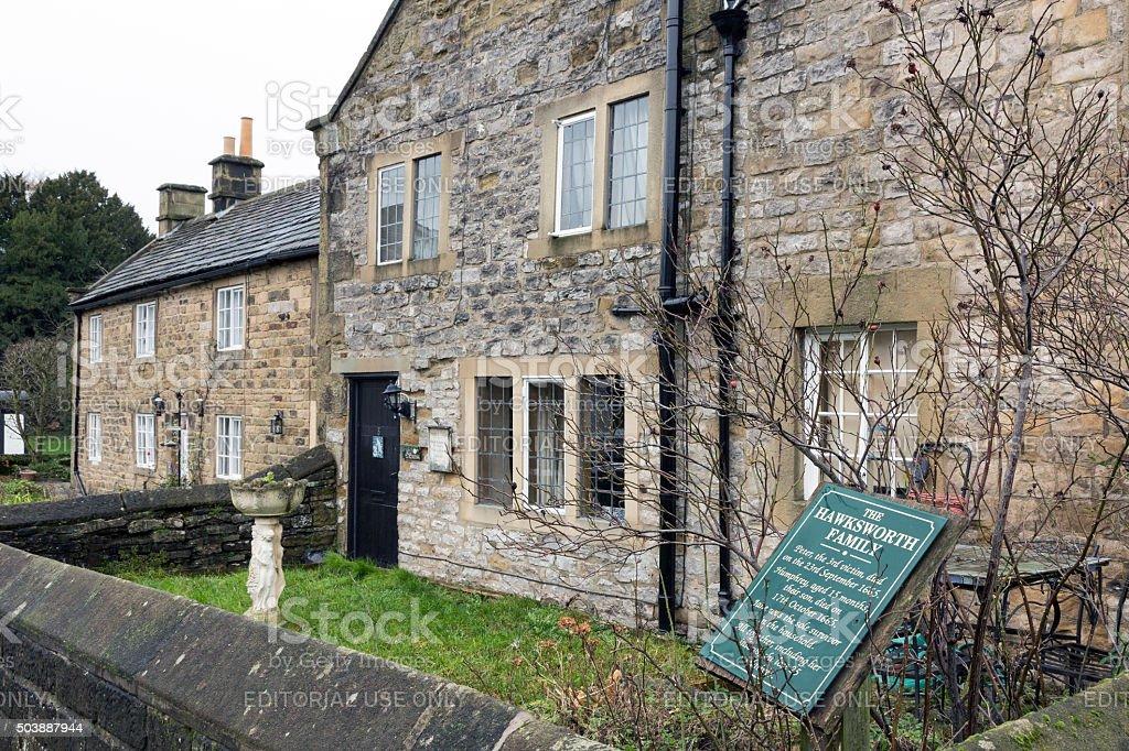 Pest cottages in Eyam, Derbyshire, Großbritannien – Foto