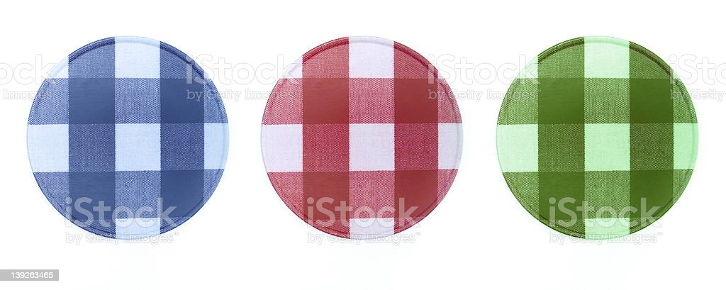 Plaid Coasters royalty-free stock photo