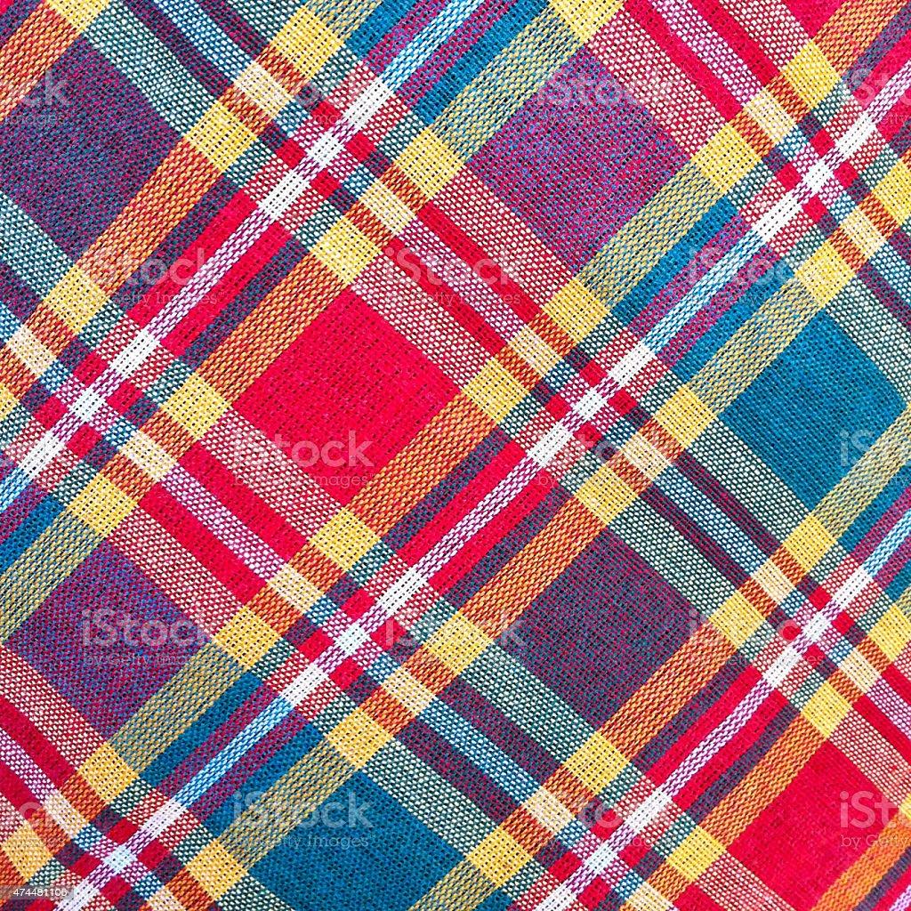 312ad495d1 Xadrez tecido de algodão de fundo colorido e textura abstrato foto de stock  royalty-free