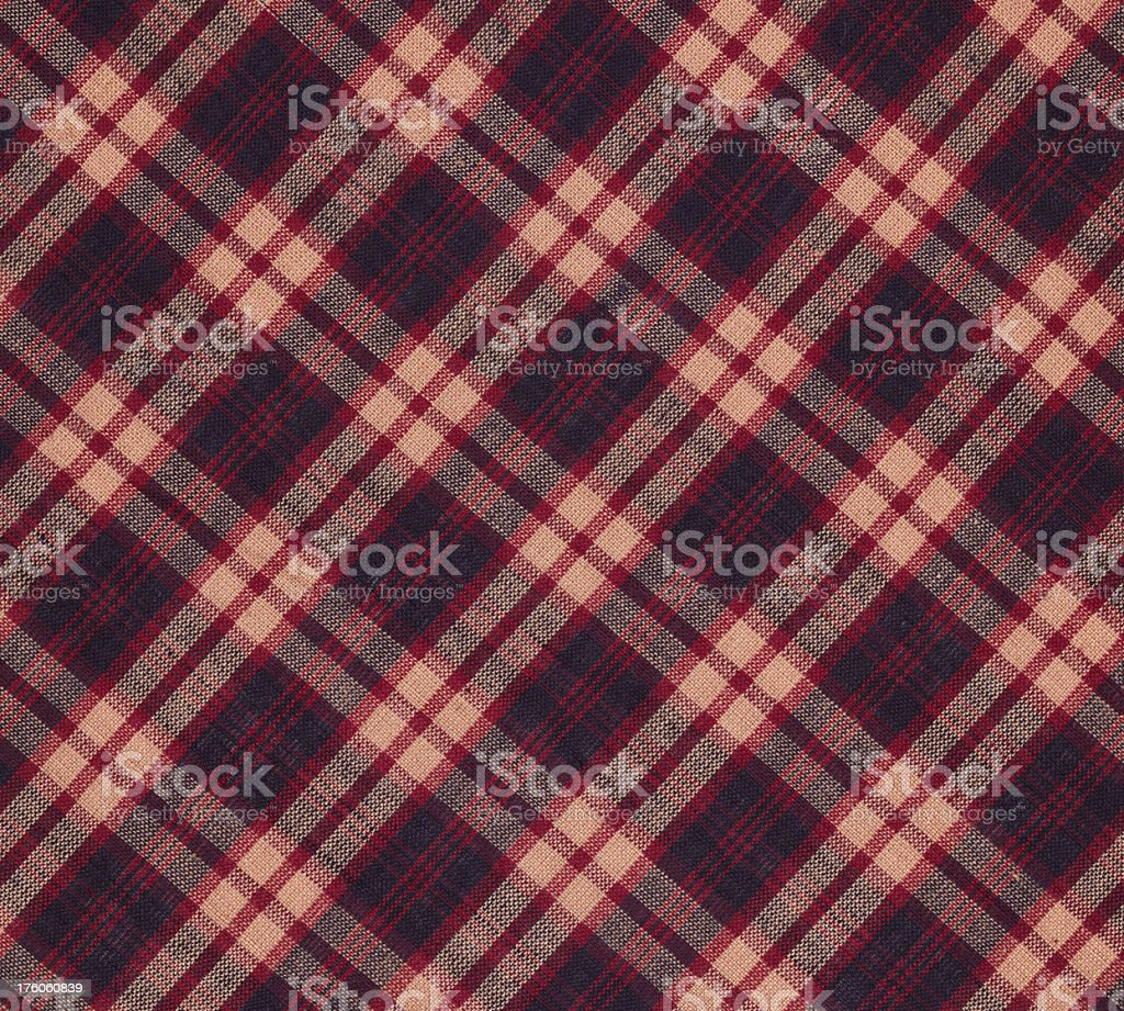 plaid cotton fabric royalty-free stock photo
