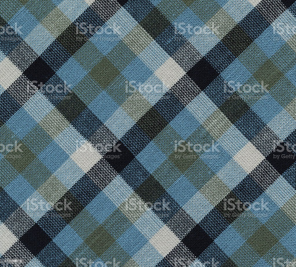 plaid fabric in blue tones stock photo