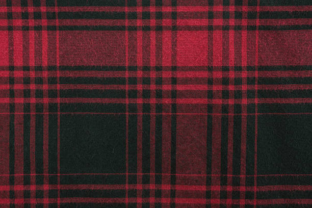 Plaid Fabric Red plaid fabric background and texture plaid stock pictures, royalty-free photos & images