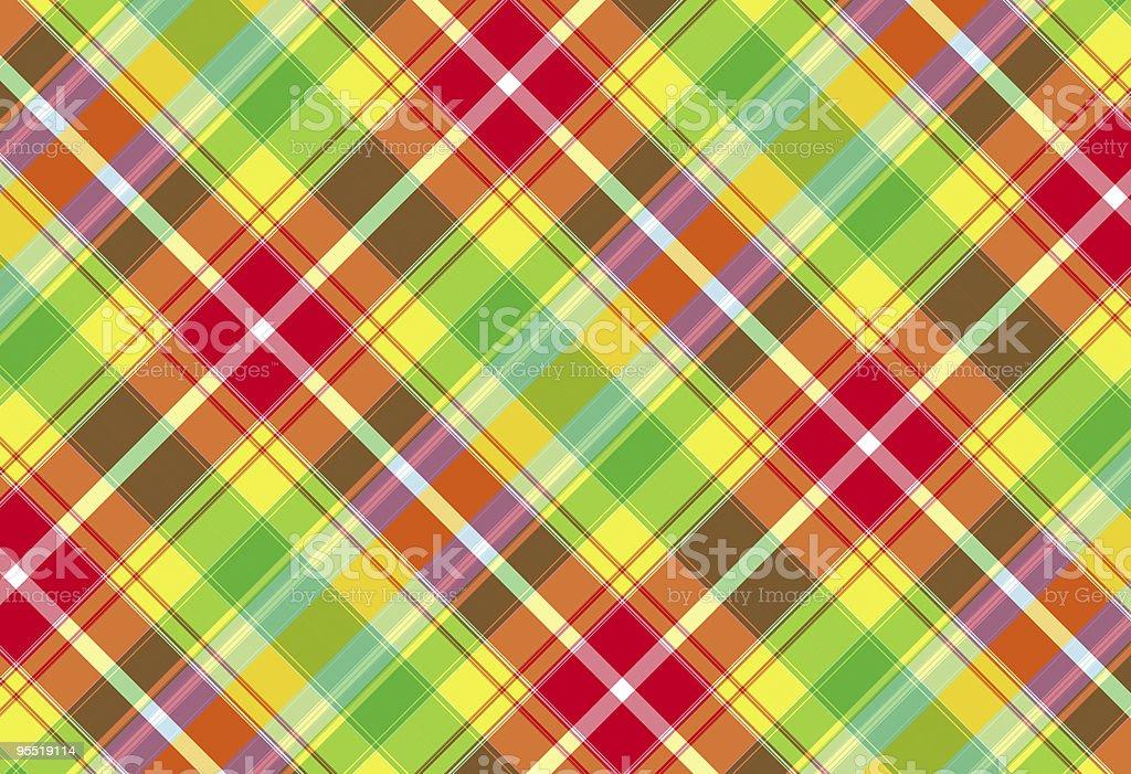 Plaid Fabric royalty-free stock photo