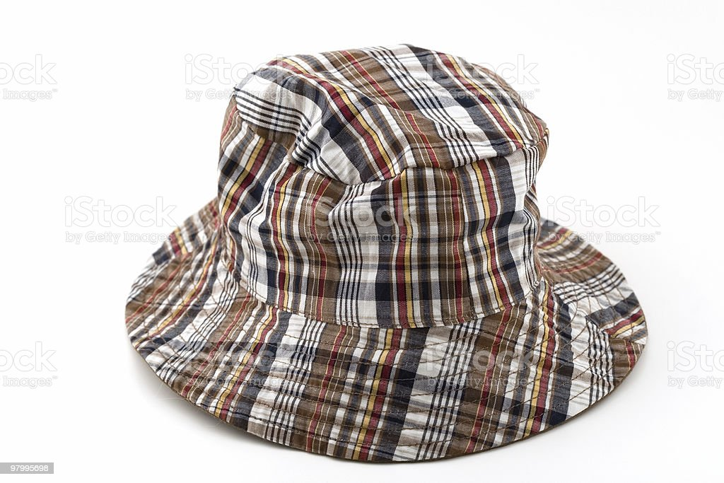 Plaid Fishing Hat royalty-free stock photo